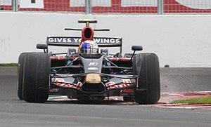 Sebastian Vettel driving for Scuderia Toro Ros...
