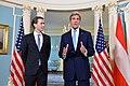 Secretary Kerry Delivers Remarks With Austrian Foreign Minister Sebastian Kurz in Washington (26208392636).jpg