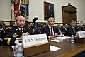 Secretary of Defense, Chuck Hagel listens to opening statements as he testifies before the House Armed Services Committee on the fiscal year 2014 National Defense Authorization Budget Request.jpg