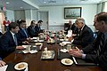 Secretary of Defense Chuck Hagel meets with Turkish Minister of National Defense Ismet Yilmaz and Minister of Foreign Affairs Ahmet Davutoglu at the Pentagon.jpg