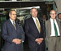Secretary of State Colin L. Powell with Hans Blix (UNMOVIC), Mohamed El Baradei (IAEO).JPG