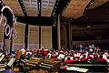 Secretary of Veterans Affairs Robert A. McDonald conducts the Cincinnati Symphony and Pops Orchestra during the closing musical selection of the USO Tribute Gala in Cincinnati Sept 140928-D-HU462-471.jpg