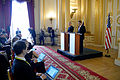 Secretary of defense and Secretary of State for Defense Michael Fallon hold a joint press conference 151009-D-LN567-126.jpg