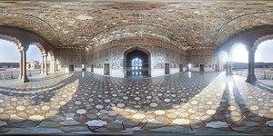 Sheesh Mahal (Lahore Fort) - Interior panorama view.
