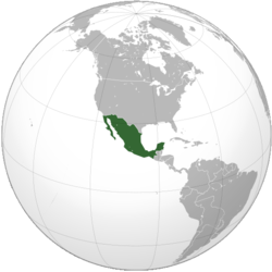 The United Mexican States in 1852, prior to the Gadsden Purchase.