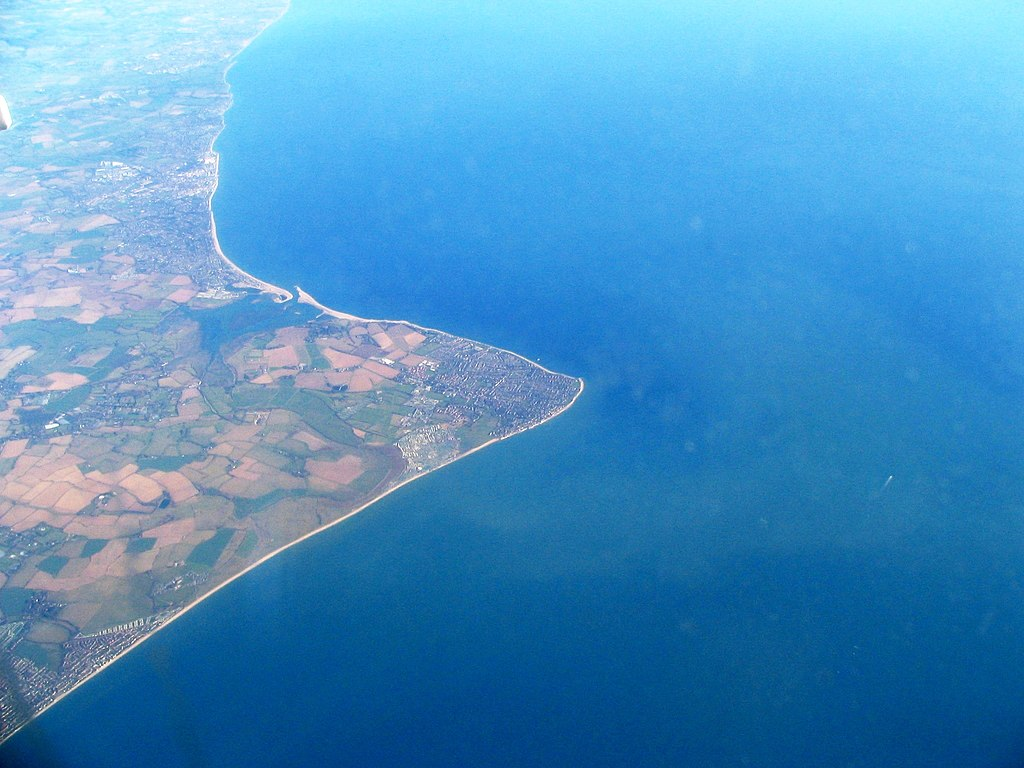 Selsey view from flight