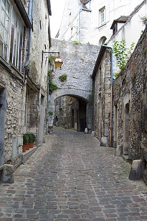 Ramparts of Senlis - The False Gate (Fausse-Porte), a postern in the Gallo-Roman wall, widened in the Middle Ages, Rue de la Treille.
