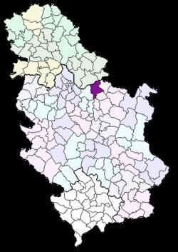 pozarevac mapa srbije Požarevac (općina) – Wikipedija pozarevac mapa srbije