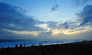 Shankumugham Beach beach in Kerala, India