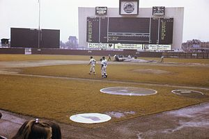 History of the New York Mets - Shea Stadium prior to a Mets versus Philadelphia Phillies game in 1969.