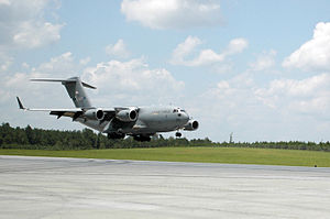 172d Airlift Wing - 172d Wing C-17 Globemaster III at Camp Shelby Auxiliary Field