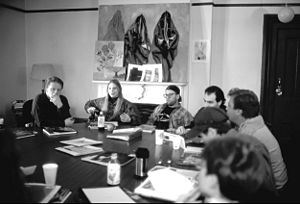 Visual arts education - Discussion class on art appreciation at Shimer College