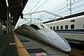 Shinkansen and Himeji Station M9 49.jpg