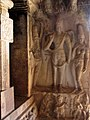 Shiva Gangadhara, Parvati, Bhagiratha. Ravana Phadi, Aihole.jpg