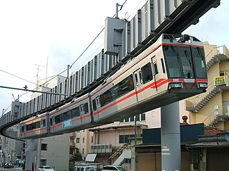 Shonan Monorail - A 5000 series train in August 2008