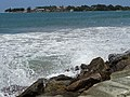 Shoreline with Spray - New Town - Galle - Sri Lanka (14047418394).jpg