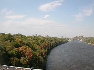 Short Line Bridge - View of Downtown from the top of the deck in Autumn 2005