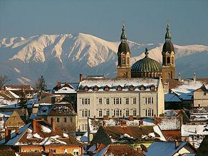 Holy Trinity Cathedral, Sibiu - Image: Sibiu Pan 2