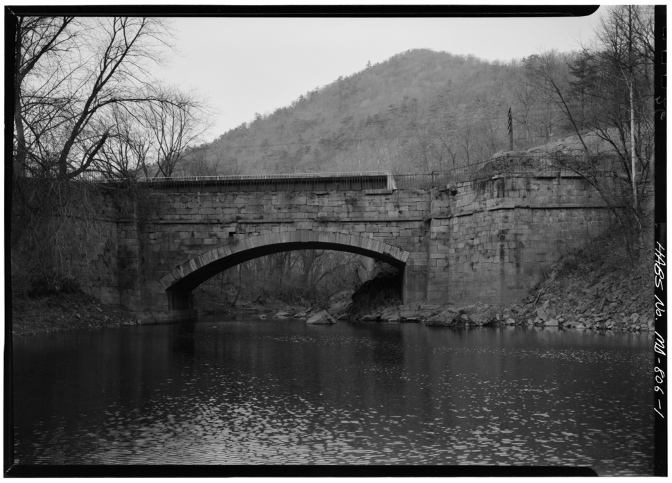 Sidling Creek Aqueduct on Chesapeake and Ohio Canal from HABS