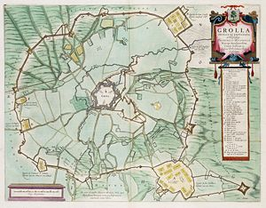 Siege of Groenlo in 1627 by Frederick Henry, including the circumvallation.