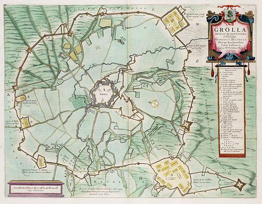 Siege of Grol (Groenlo) 1627 - Grolla Obsessa et Expugnata (J.Blaeu)