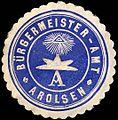 Siegelmarke Bürgermeister - Amt - Arolsen W0215965.jpg