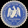 Siegelmarke K. Pr. Füsilier Regiment Prinz Heinrich von Preussen (Brandenburgische) No. 35 W0285432.jpg