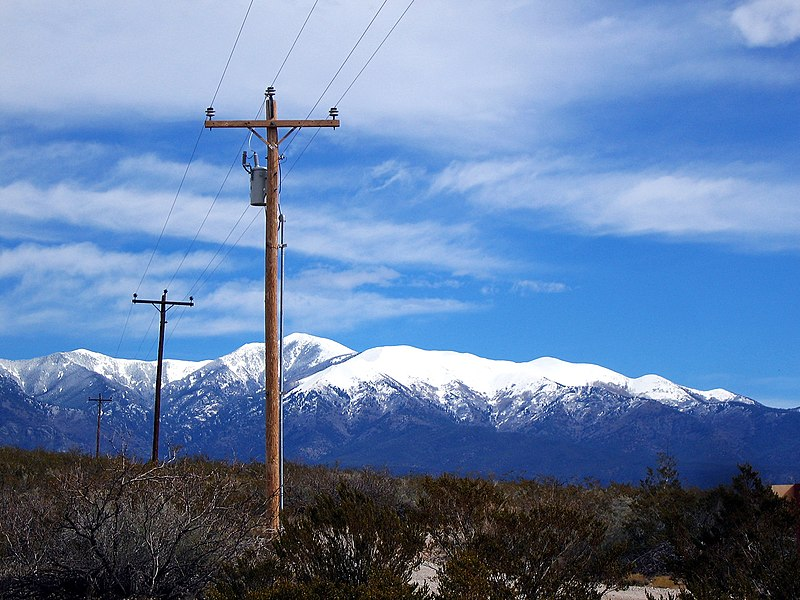 Sierra Blanca and electricity pole