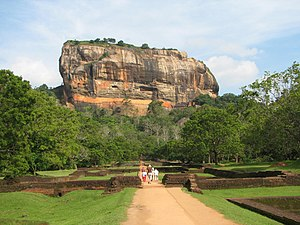 Sri Lanka - The Sigiriya rock fortress.