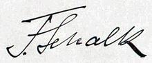 Unterschrift von Franz Schalk (1915) (Quelle: Wikimedia)