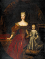 Silvestre, follower of - Probably portrait of the Empress Elisabeth Christine and her child.png