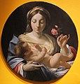 Simon vouet, madonna della rosa, olio su tv, diam 30 cm, coll privata parigi.JPG