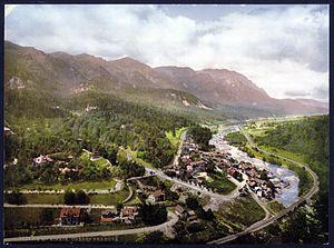 Sinaia - An 1890s postcard image of Sinaia
