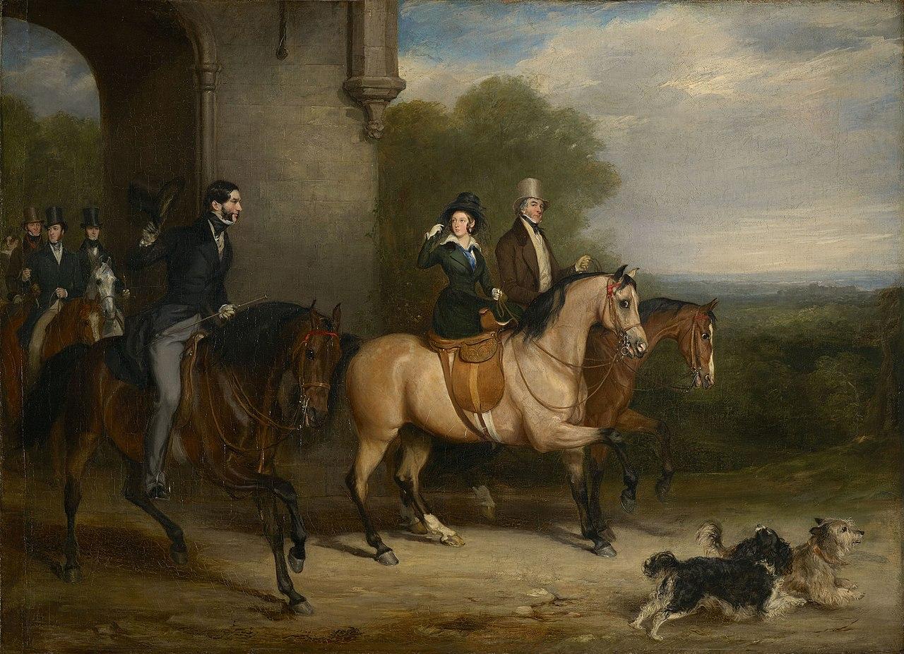 Сэр Фрэнсис Грант (1803-78) - королева Виктория (1819-1901) на выезде - RCIN 400749 - Royal Collection.jpg