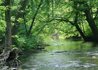 Darby Creek (Pennsylvania) - Darby Creek in Haverford Township
