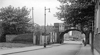 Battersea railway station - Site of Battersea railway station in 1962