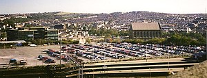New England Quarter - A large part of the site was taken up by the car park of Brighton railway station.  (Picture taken in 1996)