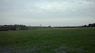 Battle of Brandy Station - The site of the battle, seen in 2017