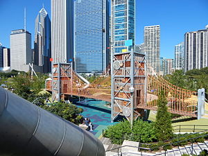 Maggie Daley Park - This image is of the Slide Crater within the Play Garden of Maggie Daley Park