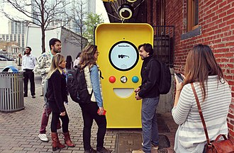 Snapchat - Snapchat Spectacles Vending Machine at SXSW 2017, Austin, Texas