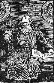 Snorre Sturlasson, perhaps the greatest saga recorder; portrait by Christian Krohg.