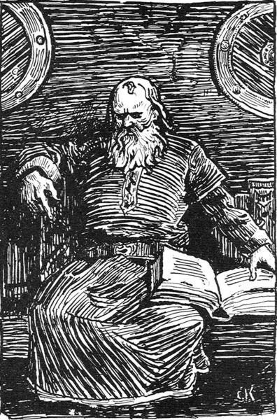 Snorri Sturluson, uno de los que recopilaron las antiguas sagas