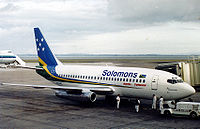 Solomon Airlines Boeing 737-200 at Auckland Airport, 2000.jpg