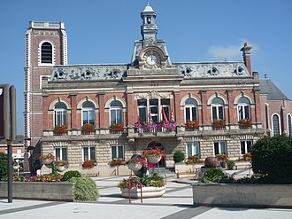 Somain, Nord - Image: Somain Mairie (A)