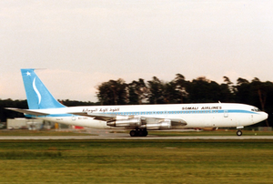 Somali Airlines - A Somali Airlines Boeing 707-330B at Frankfurt Airport (1988).