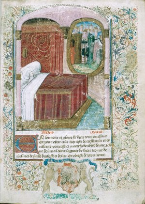 Guillaume de Deguileville - Guillaume de Deguileville dreaming of celestial Jerusalem (France, 15th century).