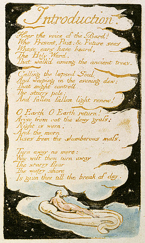 Introduction (Blake, 1794) - Image: Songs of Innocence and of Experience, copy B, 1789, 1794 (British Museum) SE Intro