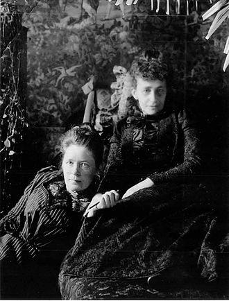 Selma Lagerlöf - Sophie Elkan (right) and Selma Lagerlöf (left)