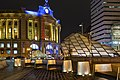 South Station and subway headhouse at night, November 2014.jpg