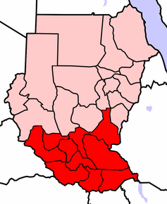 kart sør sudan Sør Sudan – Wikipedia kart sør sudan